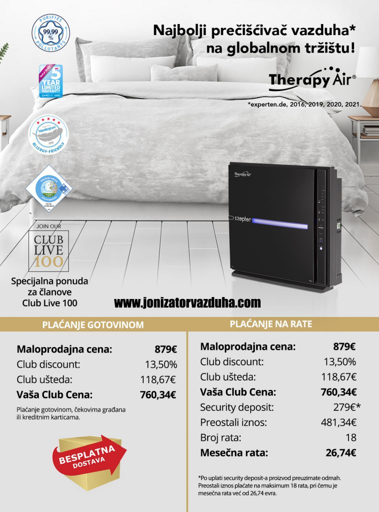 crni zepter preciscivac vazduha therapy air ion black cena